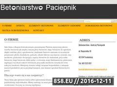 Miniaturka domeny www.betoniarstwopaciepnik.pl