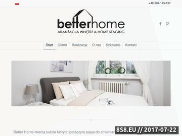 Zrzut strony Home staging