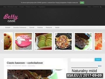 Zrzut strony Blog kulinarny Bettycook