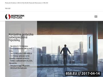 Zrzut strony Pożyczka Warszawa