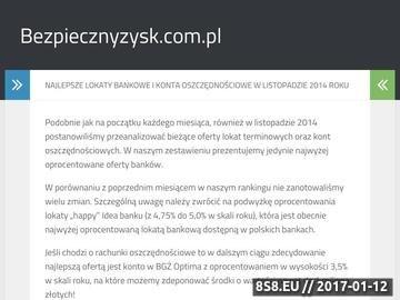 Zrzut strony Bezpiecznyzysk.com.pl - lokaty terminowe