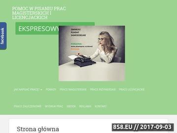 Zrzut strony Prace dyplomowe