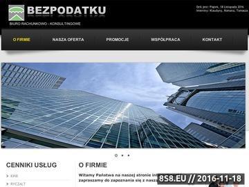 Zrzut strony Bezpodatku - ewidencjonowanie ryczałtu