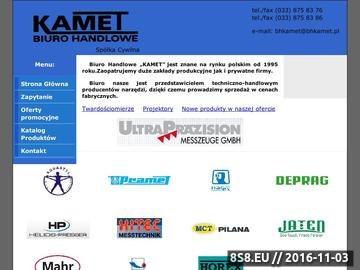 Zrzut strony Biuro Handlowe Kamet - projektory i urządzenia do pomiarów, narzędzia