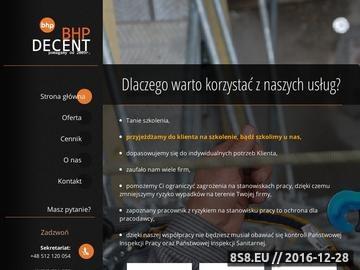 Zrzut strony BHP decent - Usługi BHP - Dokumentacja - Szkolenia