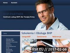 Miniaturka domeny www.bhp-partner.pl