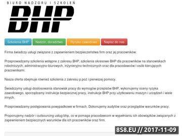 Zrzut strony Biuro nadzoru i szkoleń BHP