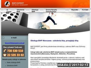 Zrzut strony Szkolenia BHP i ppoż. Warszawa