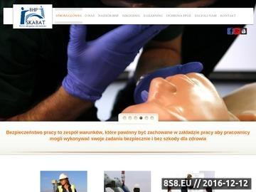 Zrzut strony Szkolenia BHP Skabat