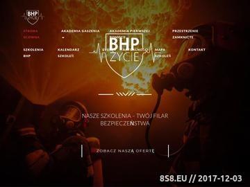 Zrzut strony Akademia gaszenia BHP Życie