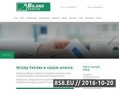 Miniaturka domeny bilans-servis.com.pl