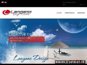 Zrzut strony Projekty Graficzne, Tworzenie stron www, Projekty DTP, Design, Layout, Langano