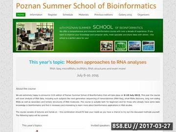 Zrzut strony Poznan Summer School of Bioinformatics 2013