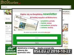 Miniaturka Czasopismo o produktach ekologicznych (www.biokurier.pl)