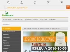 Miniaturka domeny bionature.pl