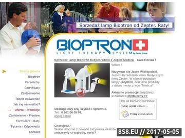 Zrzut strony Bioptron od Zepter