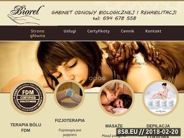 Zrzut strony Gabinet BIOREL - masaż, rehabilitacja, zabiegi na ciało