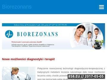 Zrzut strony Gabinet Biorezonansu w Zielonej Górze