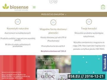 Zrzut strony Biosense - kosmetyki naturalne