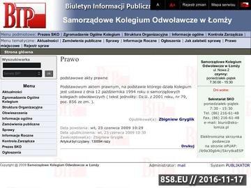 Zrzut strony BIP SKO Łomża Sprawy