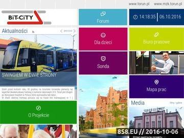 Zrzut strony Bit-City - tramwaje Toruń