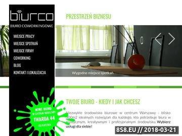 Zrzut strony Biuro coworkingowe - tanie i wygodne biuro dla freelancera i mikroprzedsiębiorcy
