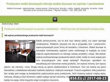Zrzut strony Meble gabinetowe Warszawa