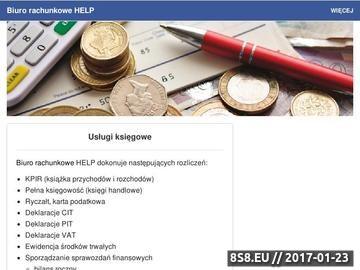 Zrzut strony Biuro Rachunkowe HELP Anna Semrau