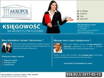 Zrzut strony Księgowość Kraków