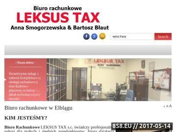 Zrzut strony Biuro rachunkowe Elbląg LEKSUS TAX