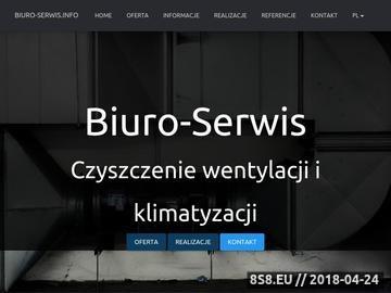 Zrzut strony Biuro-Serwis: czyszczenie kanałów wentylacyjnych