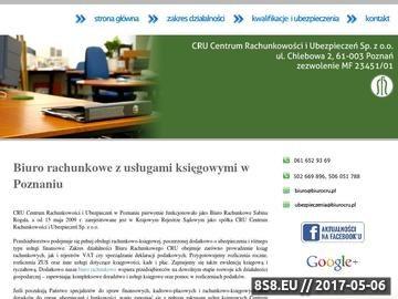 Zrzut strony Ewidencja księgowa Poznań