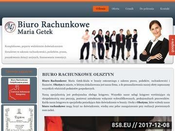 Zrzut strony Usługi księgowe Olsztyn