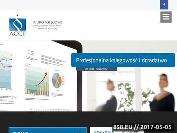 Zrzut strony ACCF biuro księgowe w Krakowie