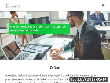 Zrzut strony Libresco - usługi kadrowo-płacowe