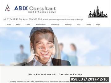 Zrzut strony Biuro rachunkowe Kraków - Abix Consultant