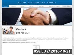 Miniaturka domeny www.biurorachunkowe-profit.com.pl