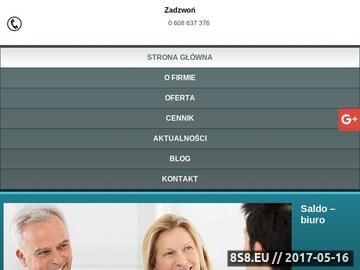 Zrzut strony SALDO SP.Z O.O. biura rachunkowe Sosnowiec