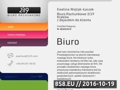 Miniaturka domeny www.biurorachunkowe2i19.pl