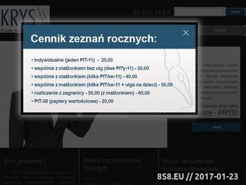 Zrzut strony Rachunkowość Olsztyn