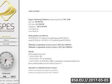 Zrzut strony Biuro Rachunkowe SPES