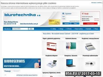 Zrzut strony PHU Biurotechnika SA - materiały biurowe Warszawa
