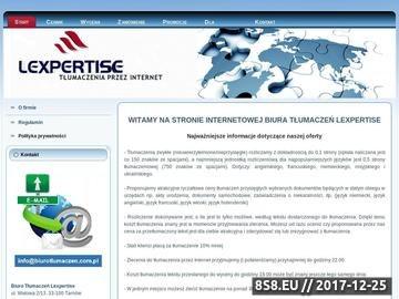 Zrzut strony LexpertISE - Internetowe Biuro Tłumaczeń