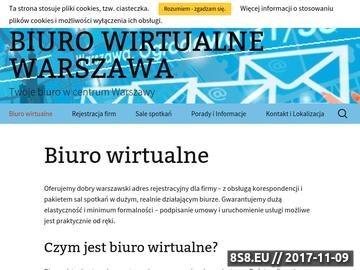 Zrzut strony Biuro wirtualne Warszawa - dobry adres dla Twojej Firmy