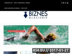 Miniaturka domeny www.biznesdlaciebie.com.pl