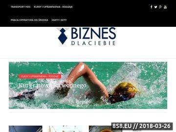 Zrzut strony Biznes dla Ciebie - Start
