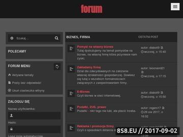 Zrzut strony Biznes forum