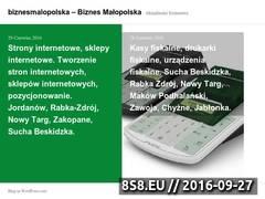 Miniaturka domeny biznesmalopolska.wordpress.com