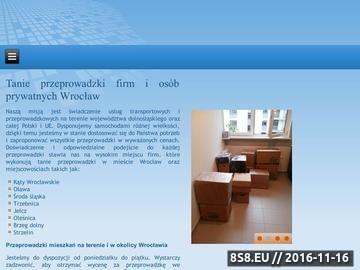 Zrzut strony Taxi bagażowe Wrocław: przeprowadzki, transport