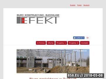 Zrzut strony EFEKT - biuro konstrukcyjno-budowlane